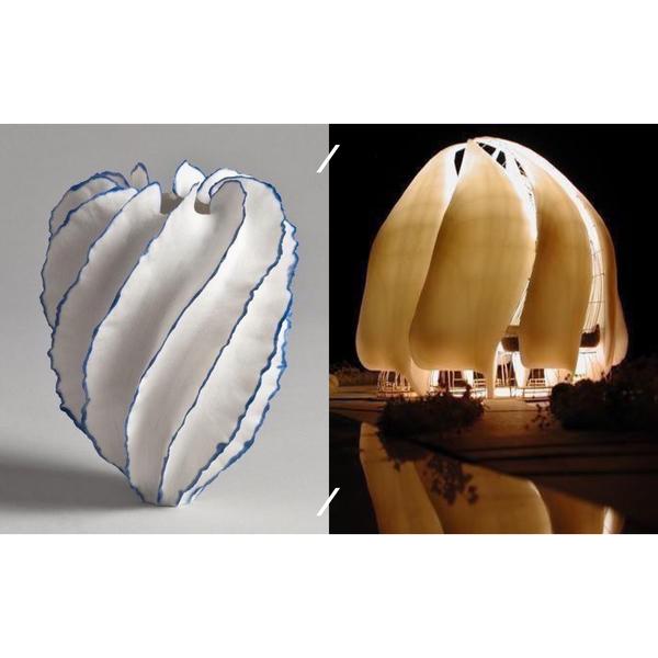 Porcelain Vase by Sandra / Davoliobaha i Temple Chile
