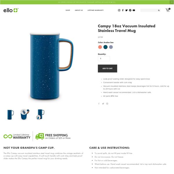 Campy 18oz Vacuum Insulated Stainless Travel Mug