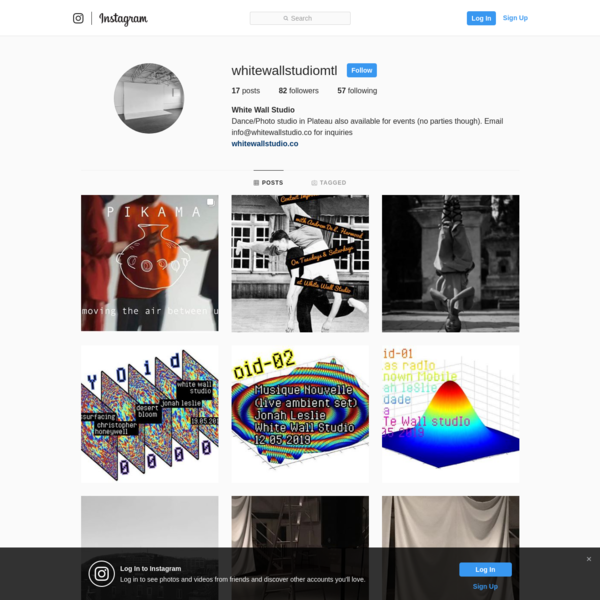 White Wall Studio (@whitewallstudiomtl) * Instagram photos and videos