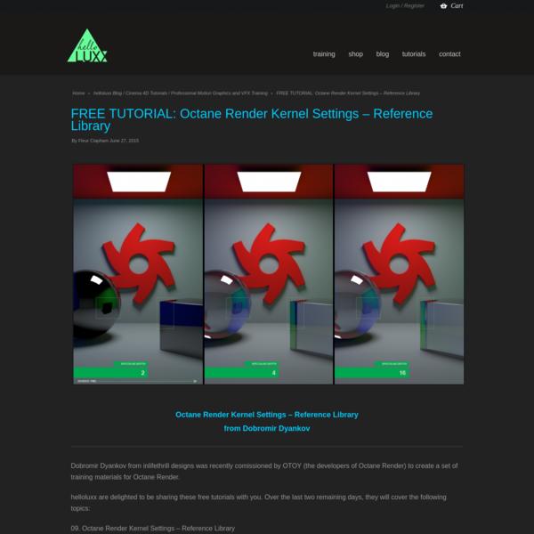 Octane Render Kernel Settings - Reference Library