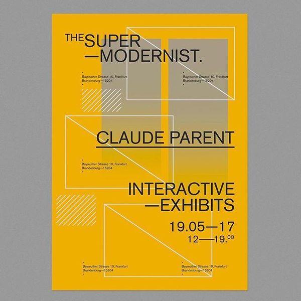 #reposter @vincent.visciano ・・・ THE SUPERMODERNIST: CLAUDE PARENT #VV #vincent #graphic #graphicdesign #design #branding #id...