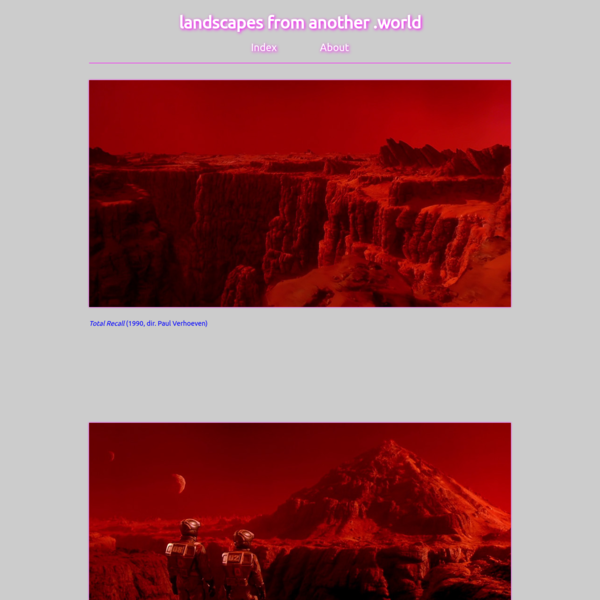 landscapes from another .world