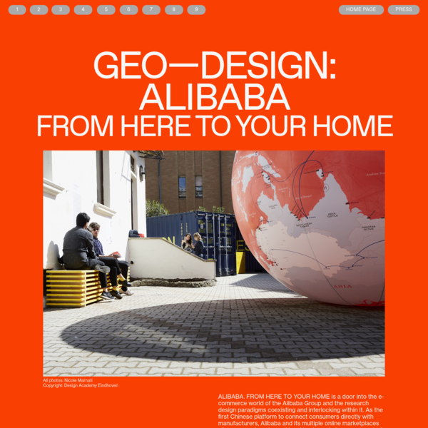 GEO-DESIGN: ALIBABA. FROM HERE TO YOUR HOME - GEO-DESIGN: ALIBABA