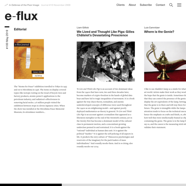 #100 May 2019 - Journal - e-flux