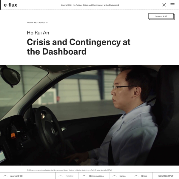 Crisis and Contingency at the Dashboard