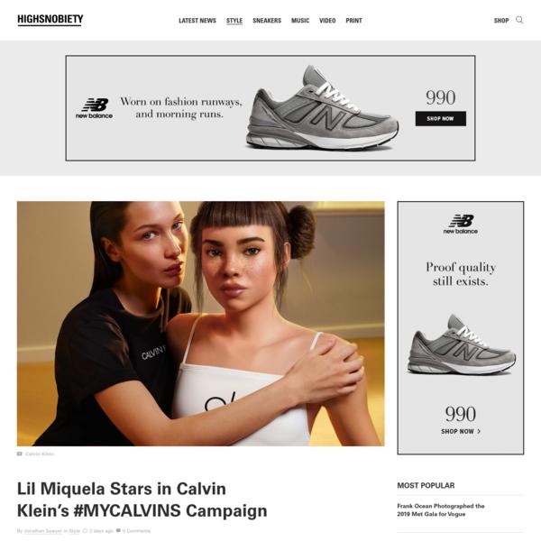 Lil Miquela Stars in Calvin Klein Campaign