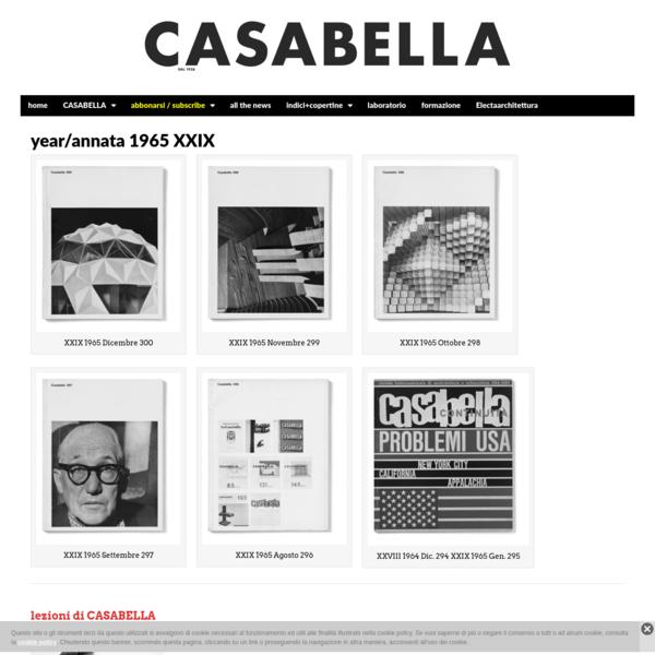 year/annata 1965 XXIX | CASABELLA