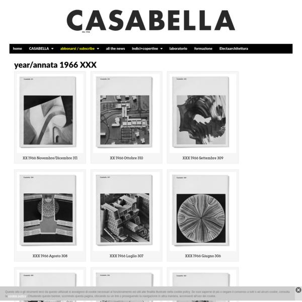 year/annata 1966 XXX | CASABELLA