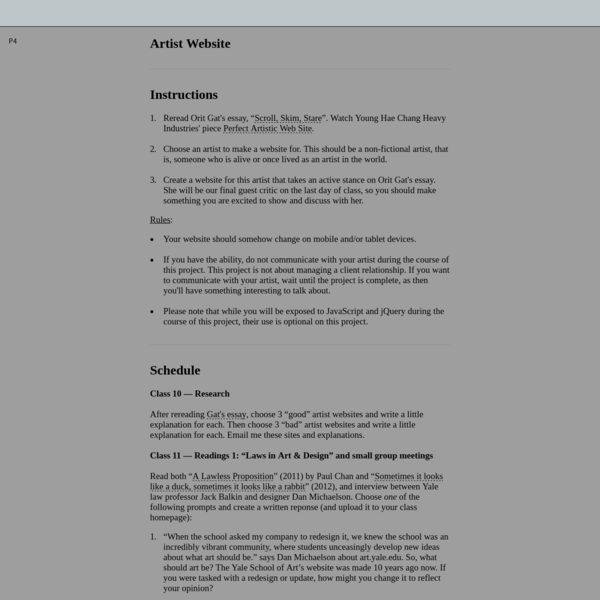 Artist Website