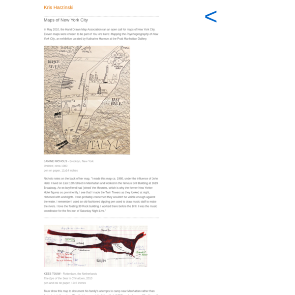 Kris Harzinski : Maps of New York City