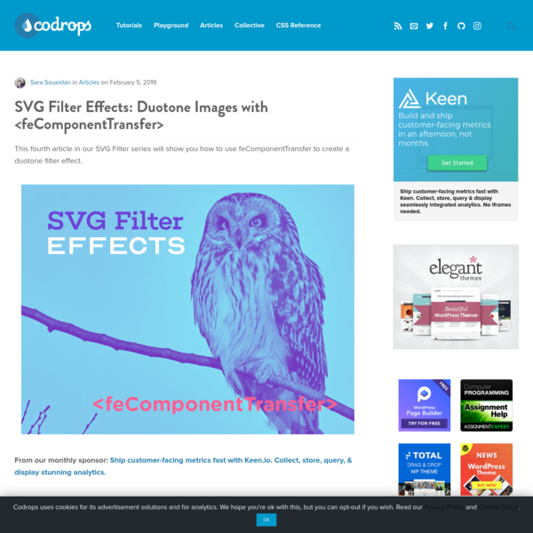 SVG Filter Effects: Duotone Images with | Codrops