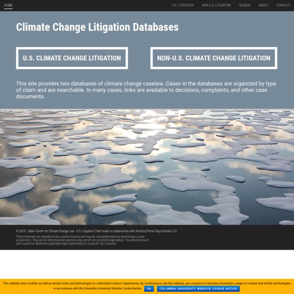 Climate Change Litigation Databases - Sabin Center for Climate Change Law