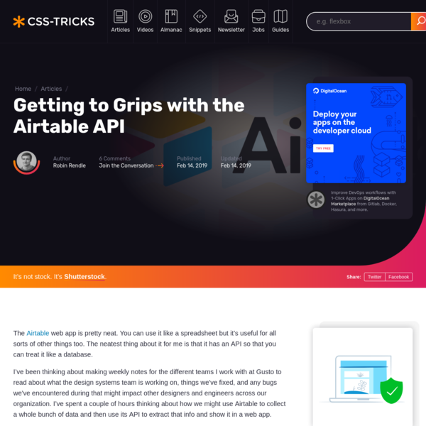 Getting to Grips with the Airtable API | CSS-Tricks