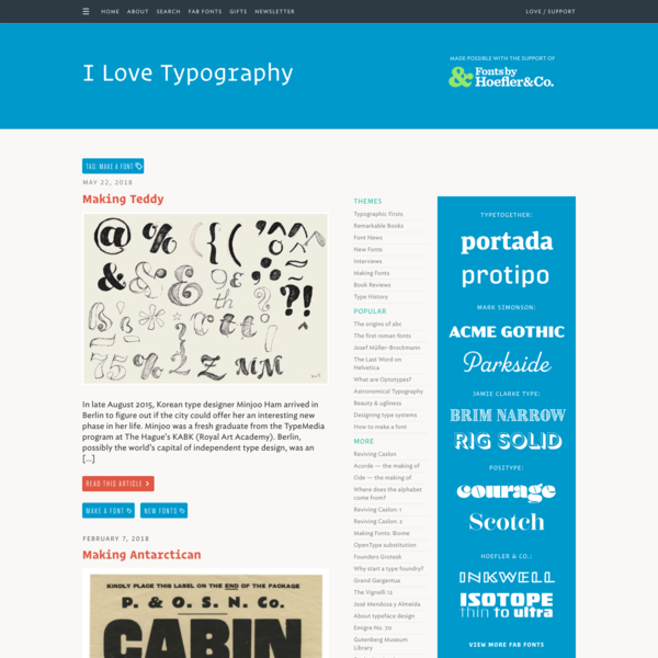 make a font Archives - I Love Typography