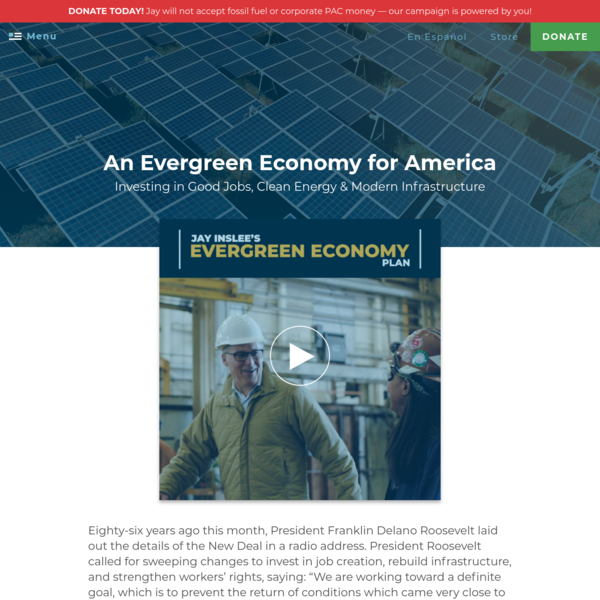 An Evergreen Economy for America