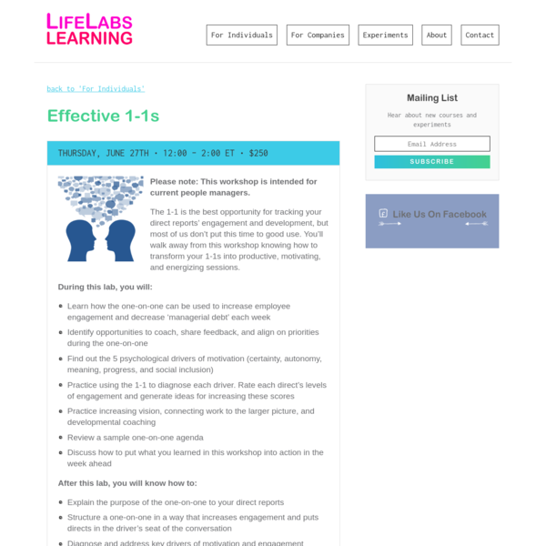Effective 1-1s | LifeLabs Learning