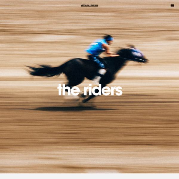 the riders | Victory Journal