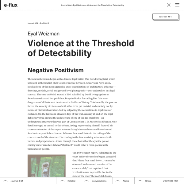 Violence at the Threshold of Detectability