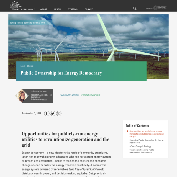 Public Ownership for Energy Democracy
