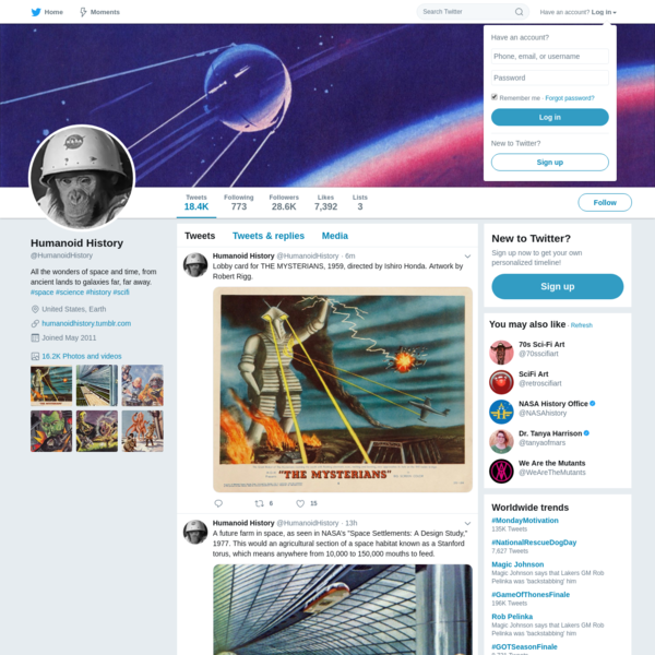Humanoid History (@HumanoidHistory)   Twitter