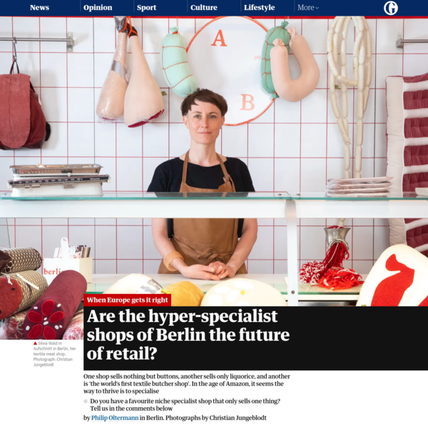 Are the hyper-specialist shops of Berlin the future of retail?