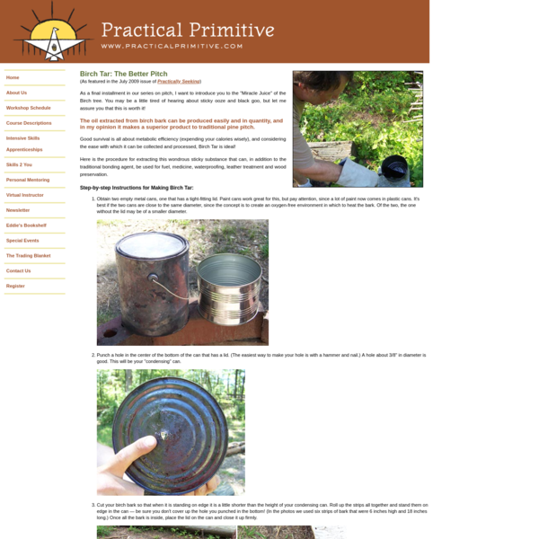Practical Primitive | Skill of the Month: Birch Tar