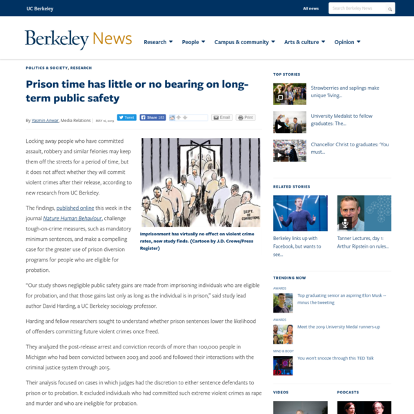 Prison time has little or no bearing on long-term public safety