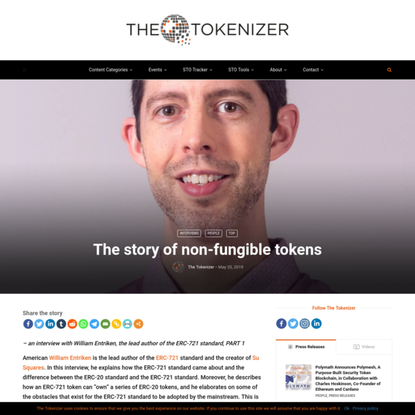 The story of non-fungible tokens - The Tokenizer
