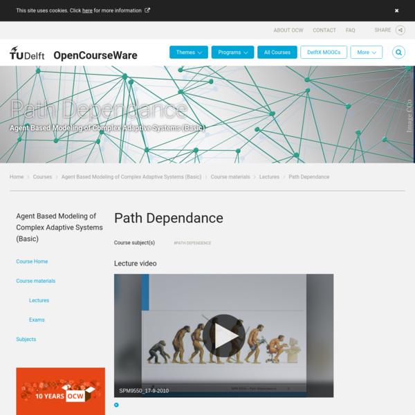 Path Dependance - TU Delft OCW