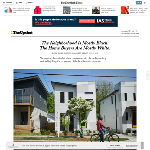 The Neighborhood Is Mostly Black. The Home Buyers Are Mostly White.