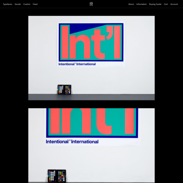 - Colophon Foundry
