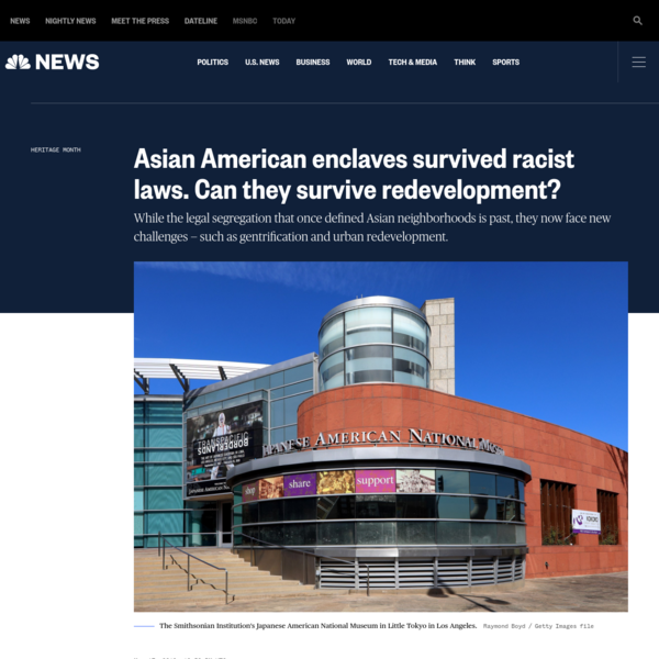 Asian American enclaves survived racist laws. Can they survive redevelopment?