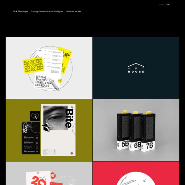 Nick Rissmeyer Design Portfolio - Work