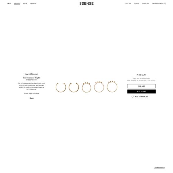 Isabel Marant - Gold Casablanca Ring Set