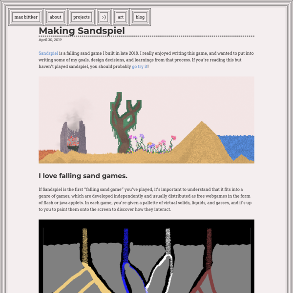 Making Sandspiel | max-bittker