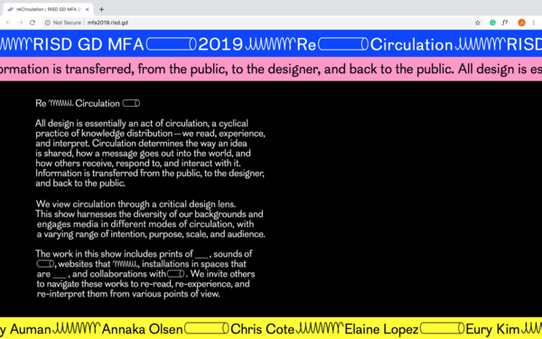 RISD MFA Graphic Design 2019 Official Website