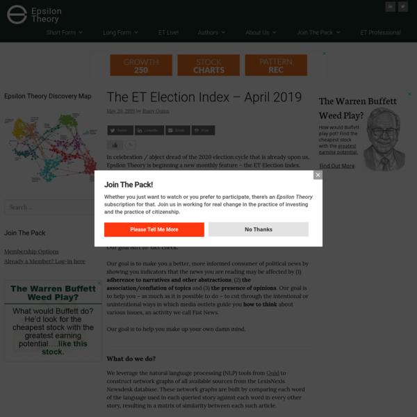 The ET Election Index - April 2019 - Epsilon Theory