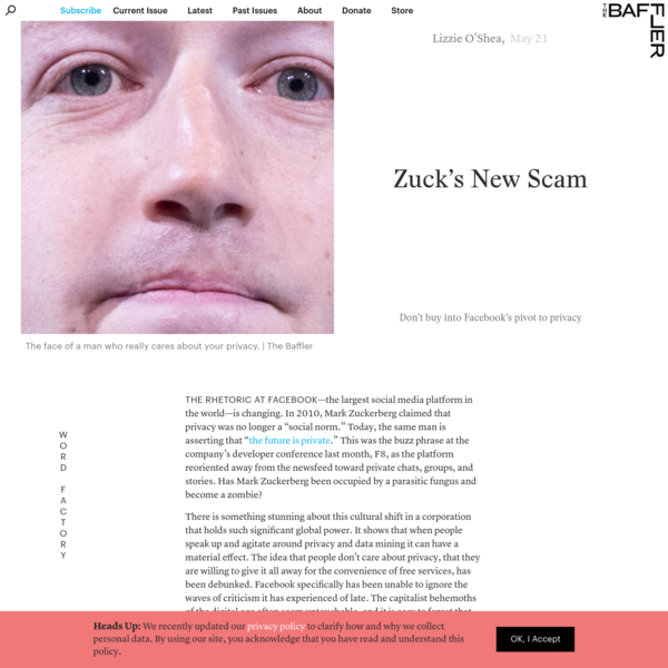 Zuck's New Scam | Don't buy into Facebook's pivot to privacy