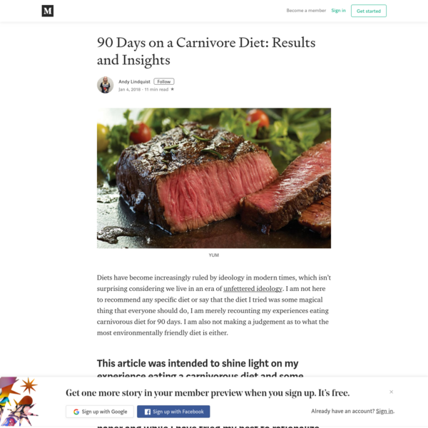 90 Days on a Carnivore Diet: Results and Insights