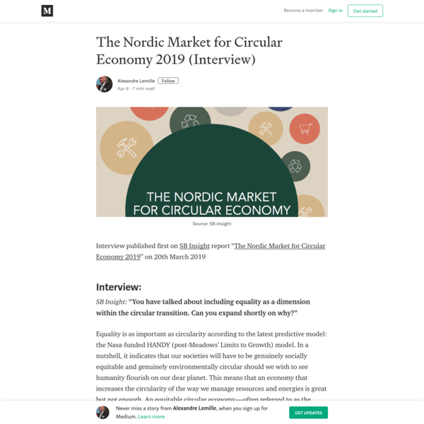 The Nordic Market for Circular Economy 2019 (Interview)