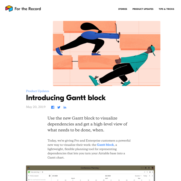 Introducing Gantt block