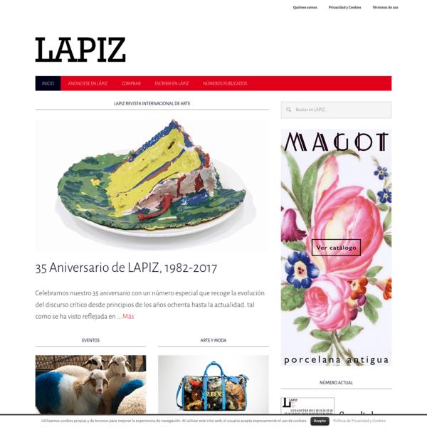 LAPIZ Revista Internacional de Arte - Toda la actualidad del arte contemporáneo