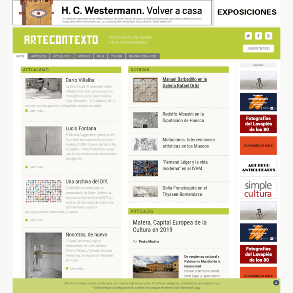 Revista digital de cultura y arte contemporaneo - ARTECONTEXTO