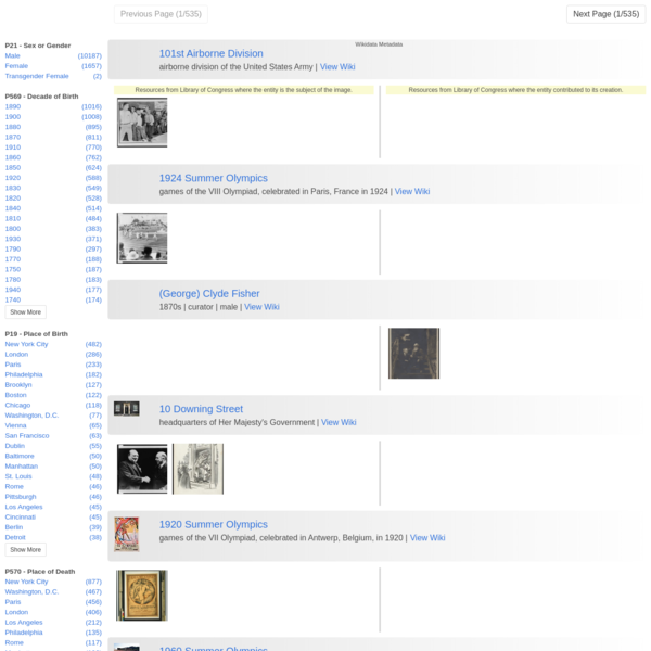 Library of Congress Prints – federation with Wikidata