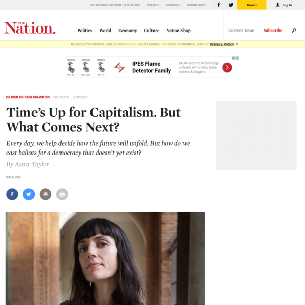 Time's Up for Capitalism. But What Comes Next?