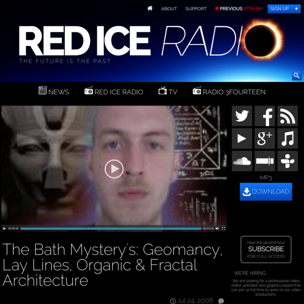 The Bath Mystery's: Geomancy, Lay Lines, Organic & Fractal Architecture