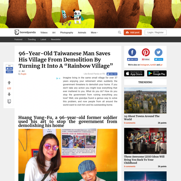 """96-Year-Old Taiwanese Man Saves His Village From Demolition By Turning It Into A """"Rainbow Village"""""""