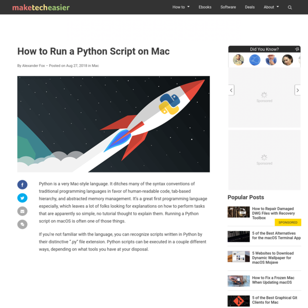 How to Run a Python Script on Mac - Make Tech Easier