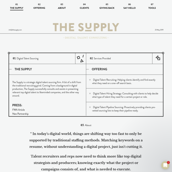 The Supply / Digital Talent