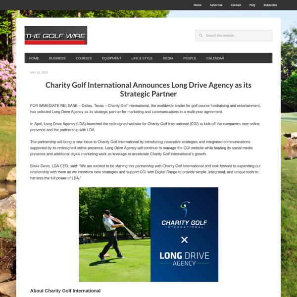Charity Golf International Announces Long Drive Agency as Strategic Partner - The Golf Wire